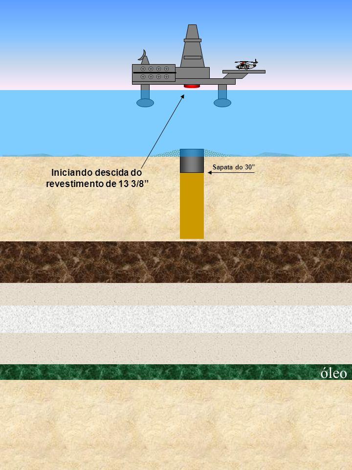 Sapata do 30 Iniciando descida do revestimento de 13 3/8 óleo