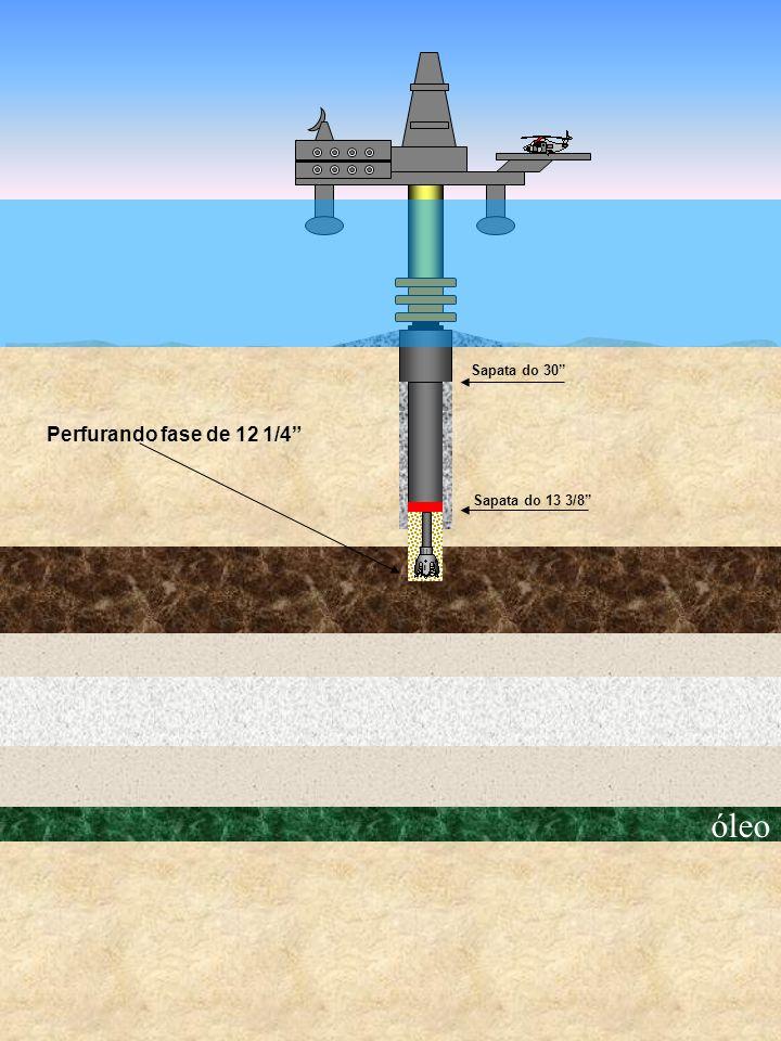 Sapata do 30 Perfurando fase de 12 1/4 Sapata do 13 3/8 óleo
