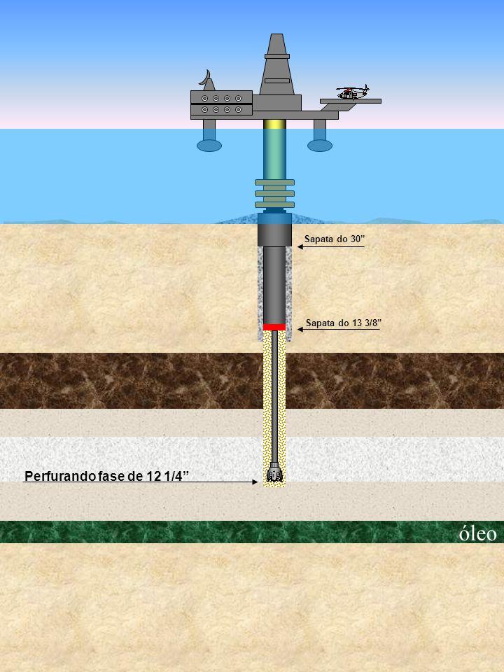 Sapata do 30 Sapata do 13 3/8 Perfurando fase de 12 1/4 óleo