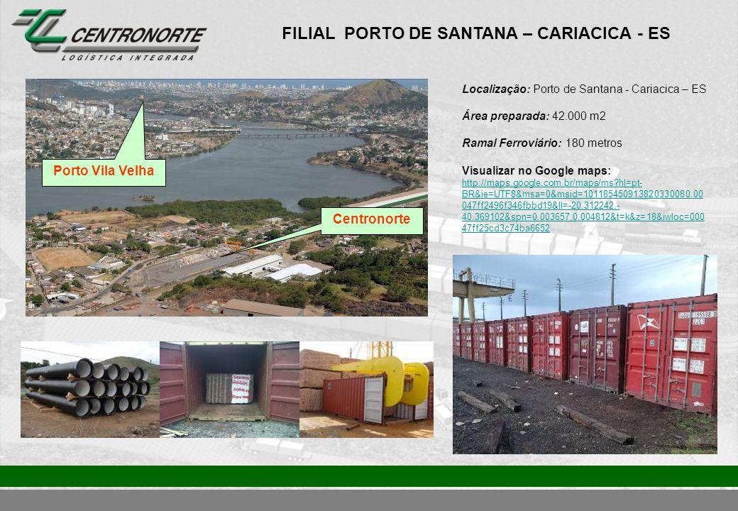 FILIAL PORTO DE SANTANA – CARIACICA - ES