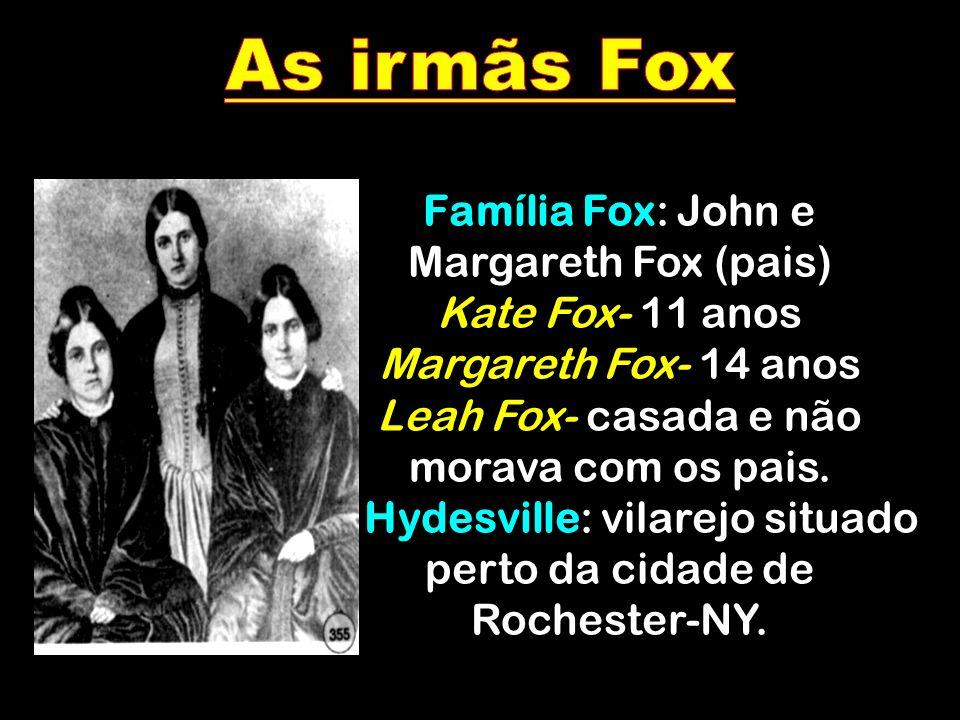 As irmãs Fox Família Fox: John e Margareth Fox (pais)