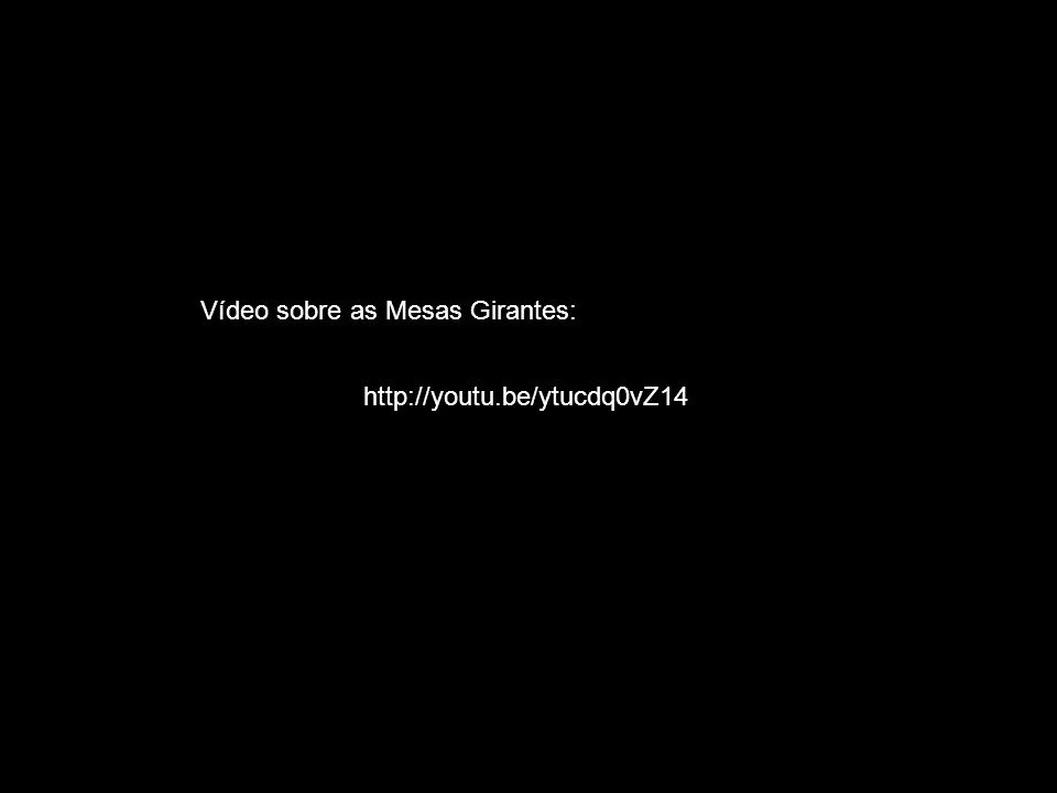 Vídeo sobre as Mesas Girantes: