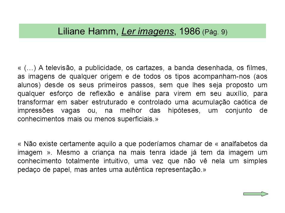 Liliane Hamm, Ler imagens, 1986 (Pág. 9)
