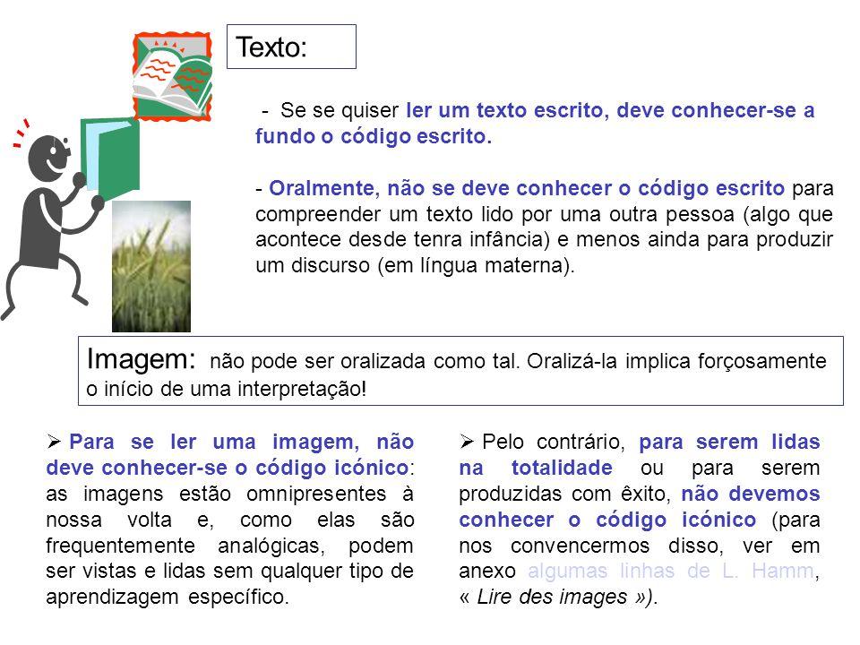 Texto: - Se se quiser ler um texto escrito, deve conhecer-se a fundo o código escrito.