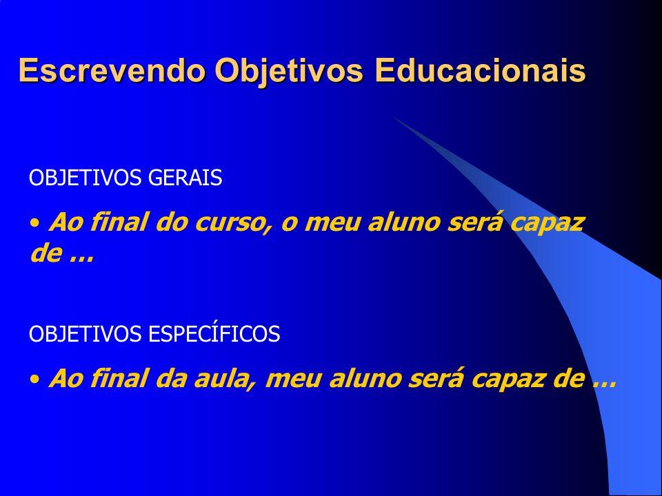 Escrevendo Objetivos Educacionais