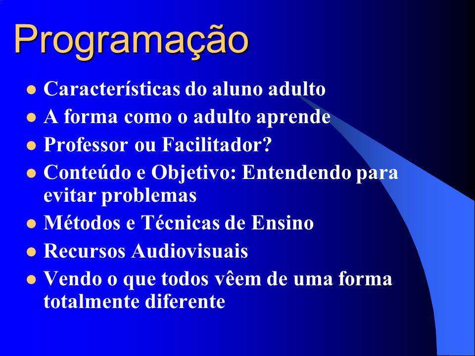 Programação Características do aluno adulto