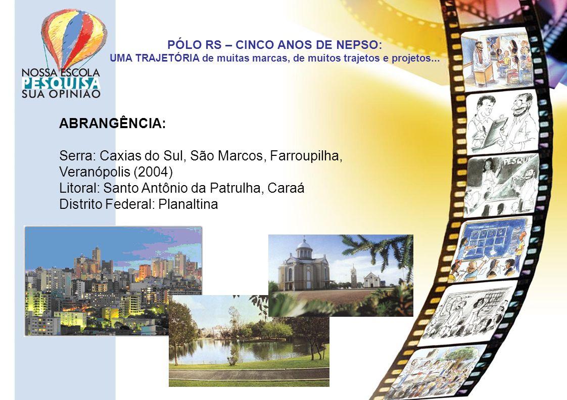 Serra: Caxias do Sul, São Marcos, Farroupilha, Veranópolis (2004)