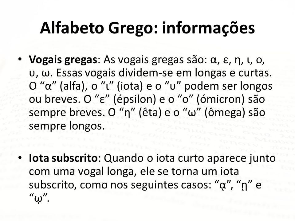 Alfabeto Grego: informações