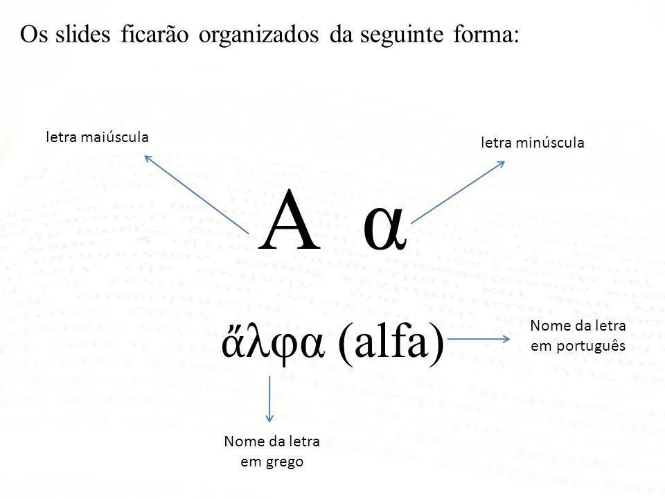 Nome da letra em português