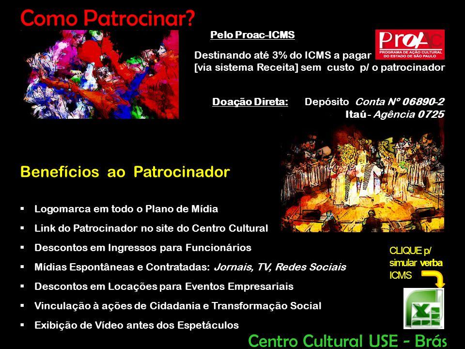 Como Patrocinar Centro Cultural USE - Brás Benefícios ao Patrocinador