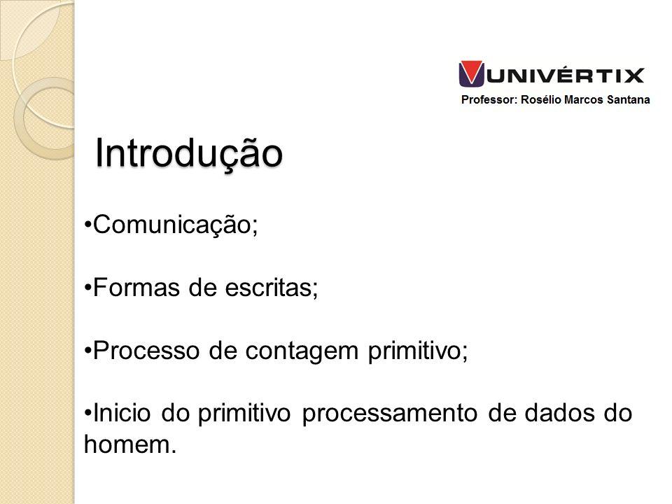 Introdução Comunicação; Formas de escritas;
