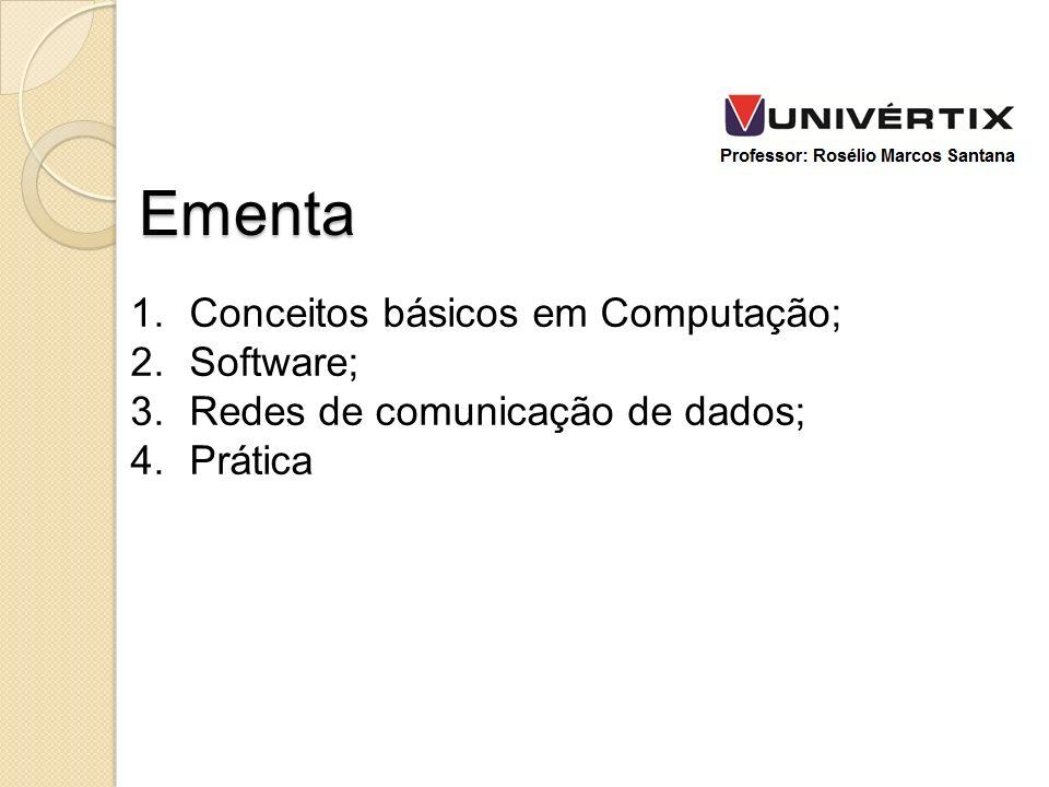 Ementa Conceitos básicos em Computação; Software;
