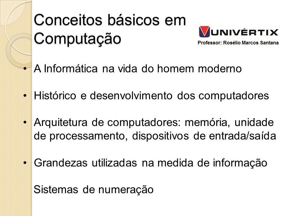 Conceitos básicos em Computação