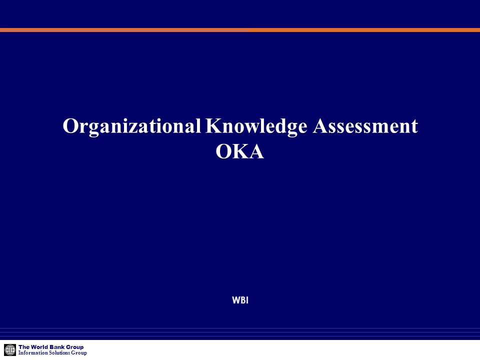 Organizational Knowledge Assessment OKA