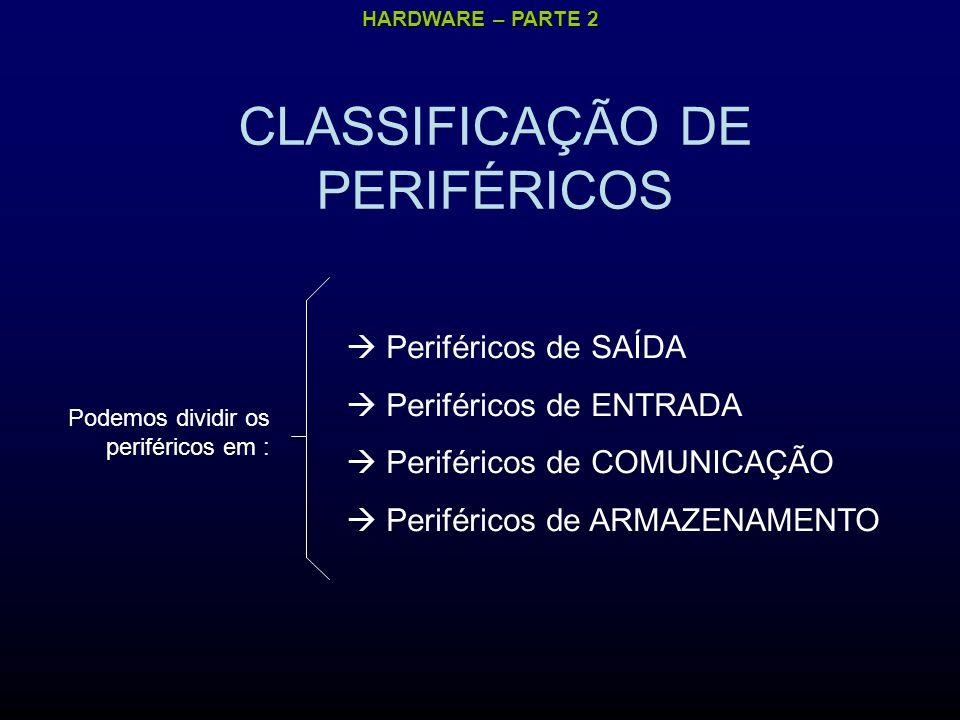 CLASSIFICAÇÃO DE PERIFÉRICOS