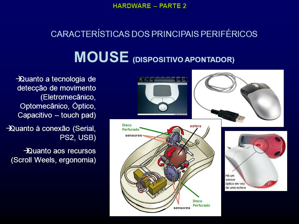 MOUSE (DISPOSITIVO APONTADOR)