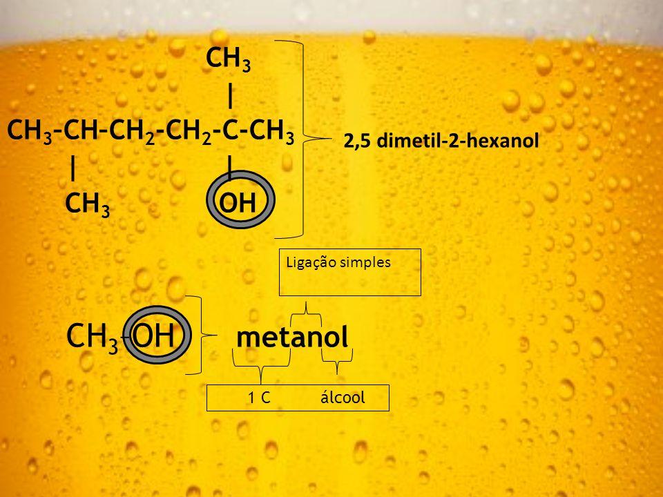 CH3–OH metanol CH3 | CH3–CH–CH2-CH2-C-CH3 | | CH3 OH