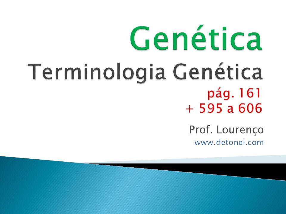 Genética Terminologia Genética pág. 161 + 595 a 606