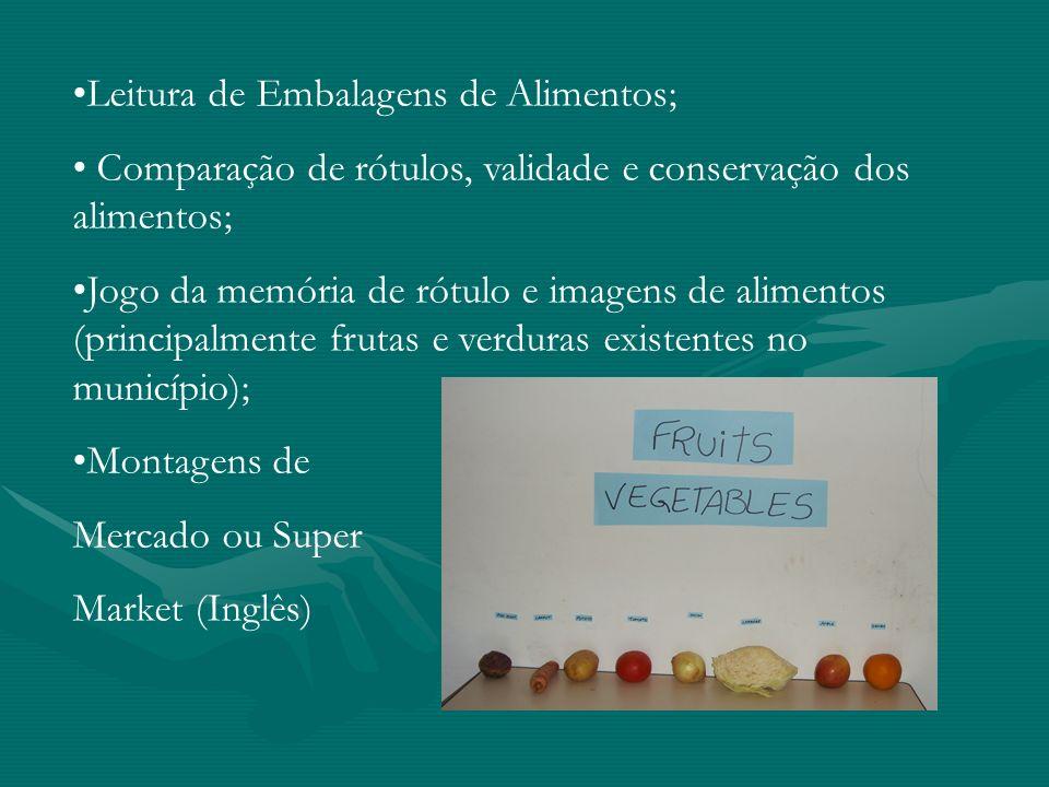 Leitura de Embalagens de Alimentos;