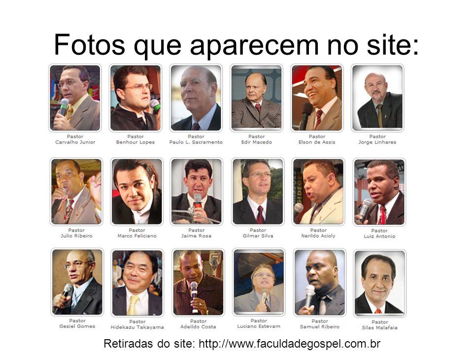 Fotos que aparecem no site: