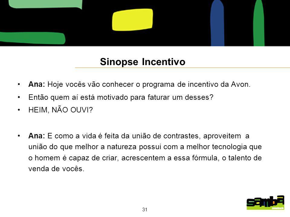 Sinopse Incentivo Ana: Hoje vocês vão conhecer o programa de incentivo da Avon. Então quem aí está motivado para faturar um desses
