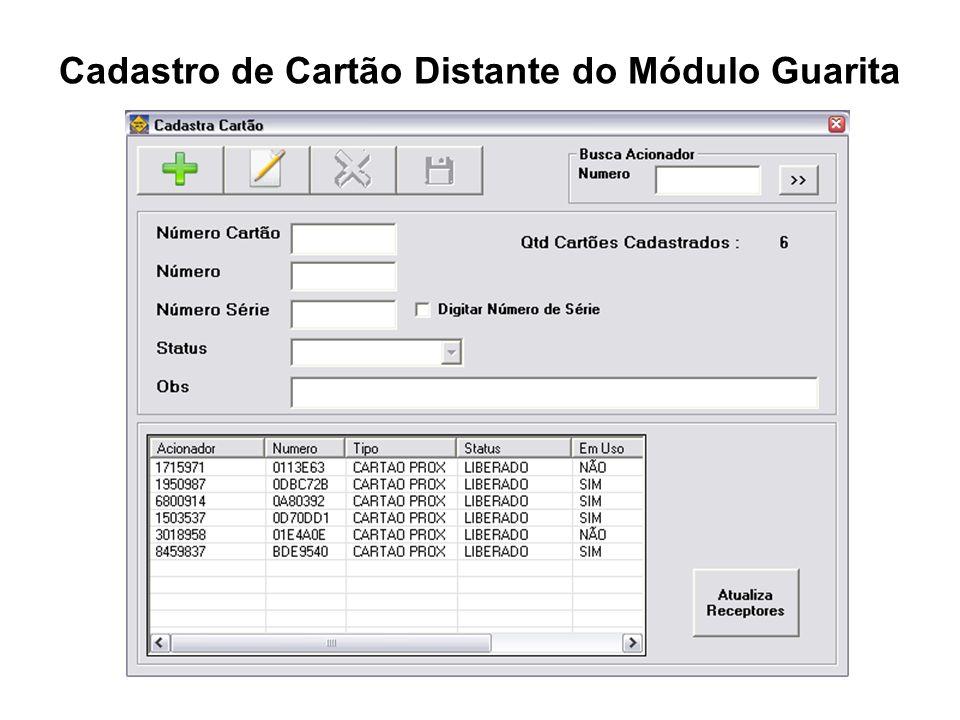 Cadastro de Cartão Distante do Módulo Guarita