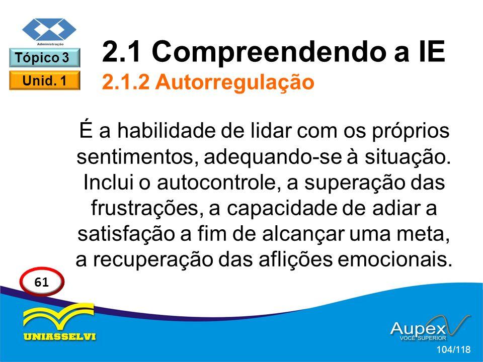 2.1 Compreendendo a IE 2.1.2 Autorregulação
