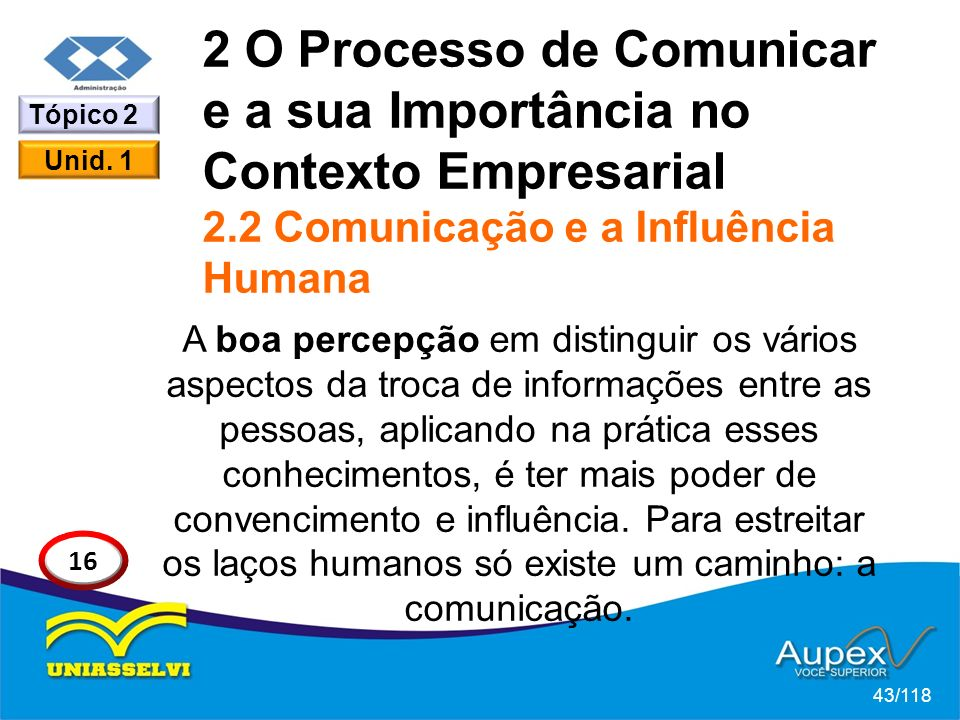 2 O Processo de Comunicar e a sua Importância no Contexto Empresarial 2.2 Comunicação e a Influência Humana