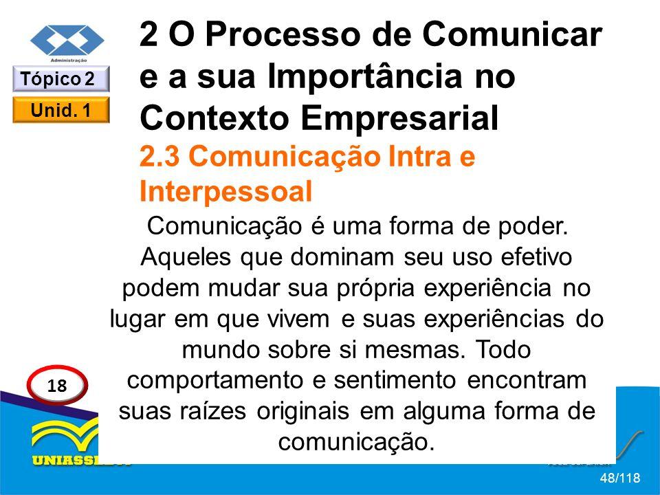 2 O Processo de Comunicar e a sua Importância no Contexto Empresarial 2.3 Comunicação Intra e Interpessoal