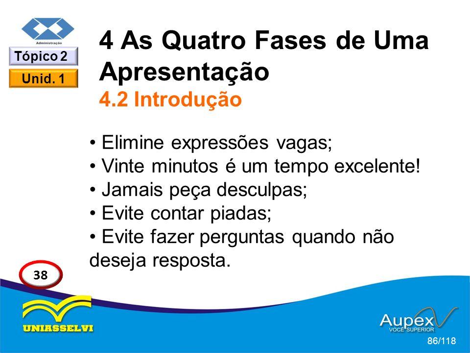 4 As Quatro Fases de Uma Apresentação 4.2 Introdução