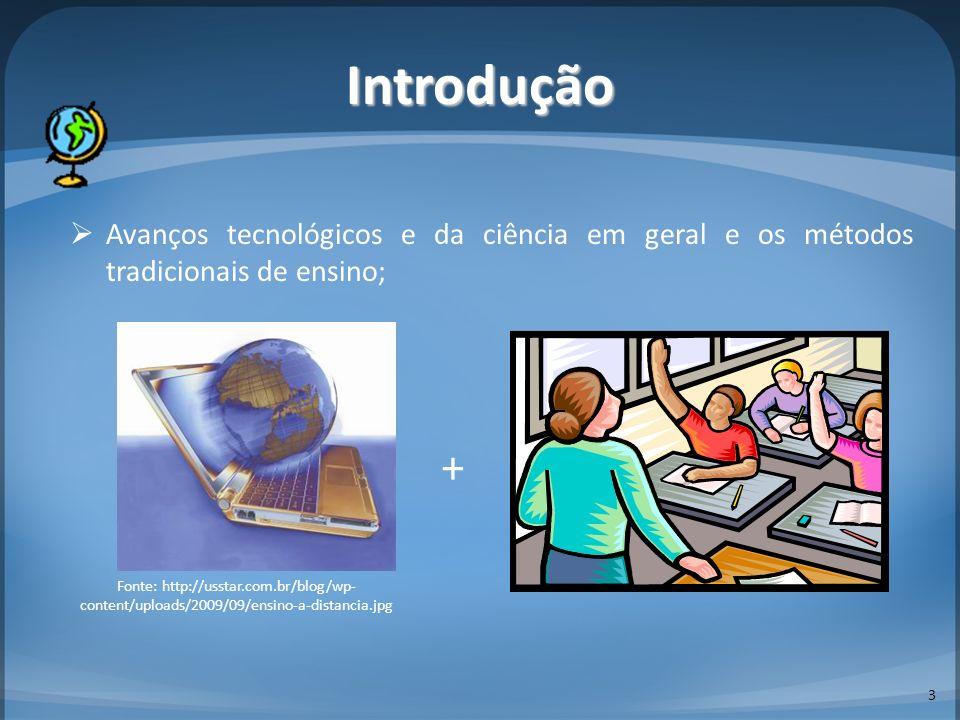 Introdução Avanços tecnológicos e da ciência em geral e os métodos tradicionais de ensino; +