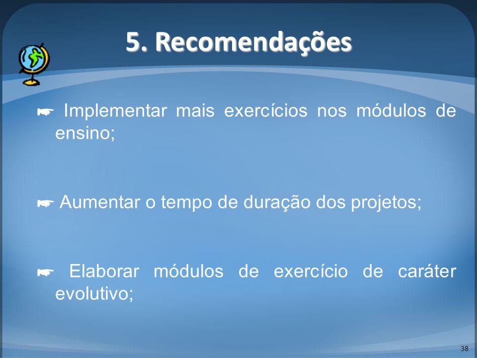 5. Recomendações