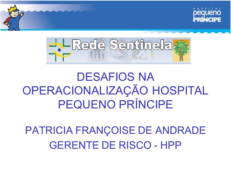 DESAFIOS NA OPERACIONALIZAÇÃO HOSPITAL PEQUENO PRÍNCIPE