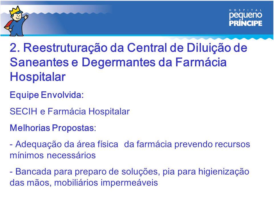 2. Reestruturação da Central de Diluição de Saneantes e Degermantes da Farmácia Hospitalar