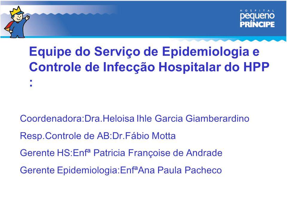 Equipe do Serviço de Epidemiologia e Controle de Infecção Hospitalar do HPP :