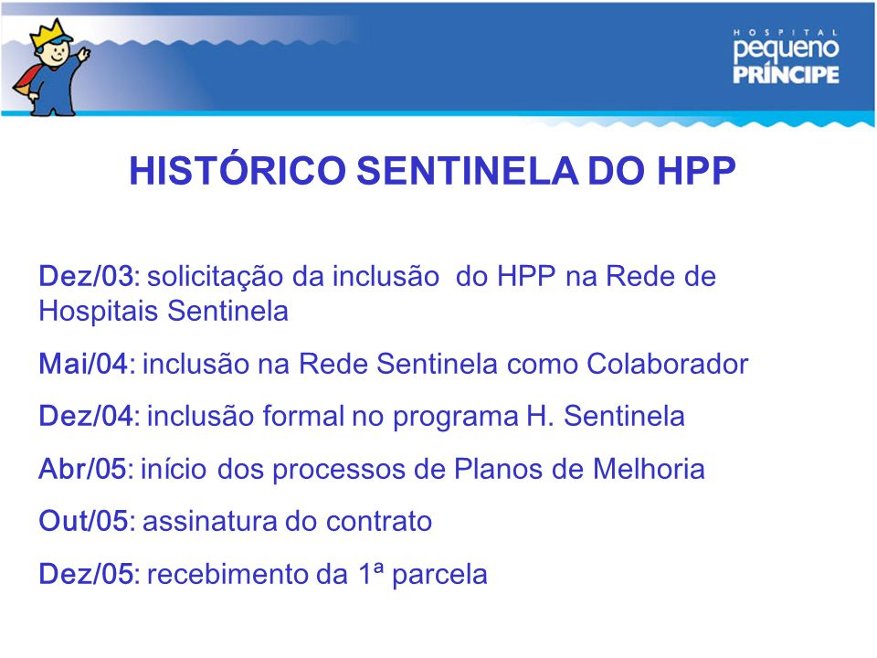 HISTÓRICO SENTINELA DO HPP