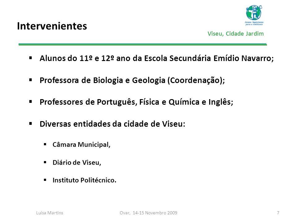 IntervenientesAlunos do 11º e 12º ano da Escola Secundária Emídio Navarro; Professora de Biologia e Geologia (Coordenação);