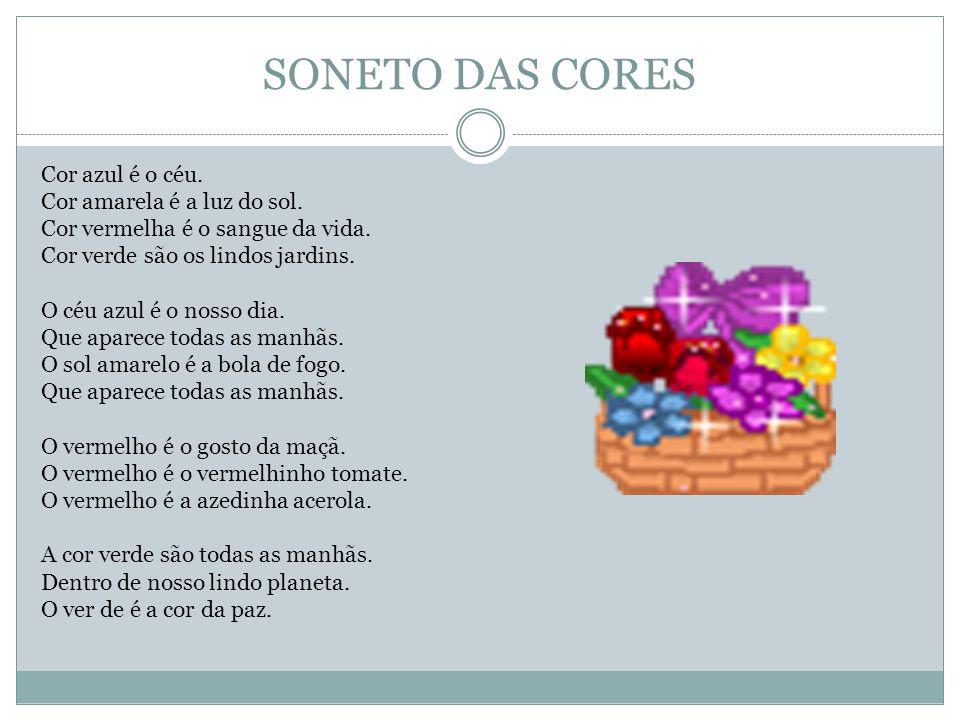 SONETO DAS CORES