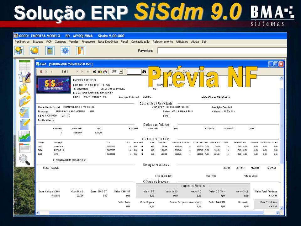 Solução ERP SiSdm 9.0 Prévia NF