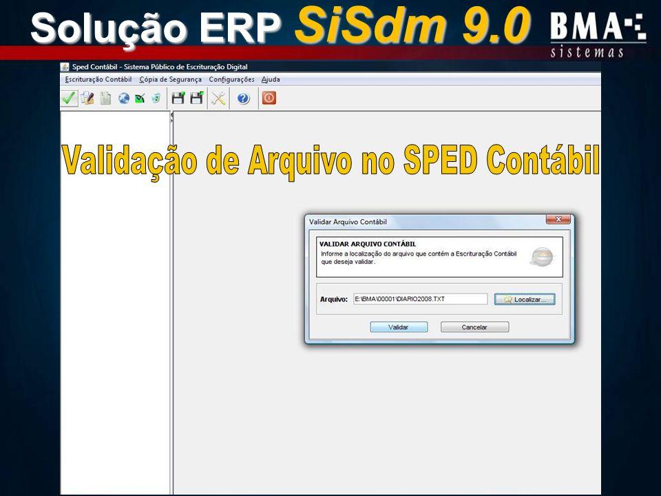 Validação de Arquivo no SPED Contábil