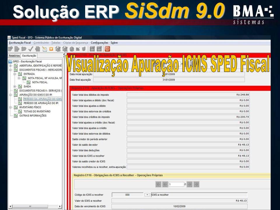 Visualização Apuração ICMS SPED Fiscal