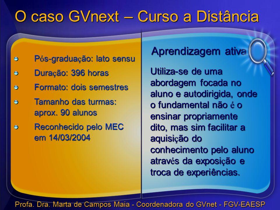 O caso GVnext – Curso a Distância