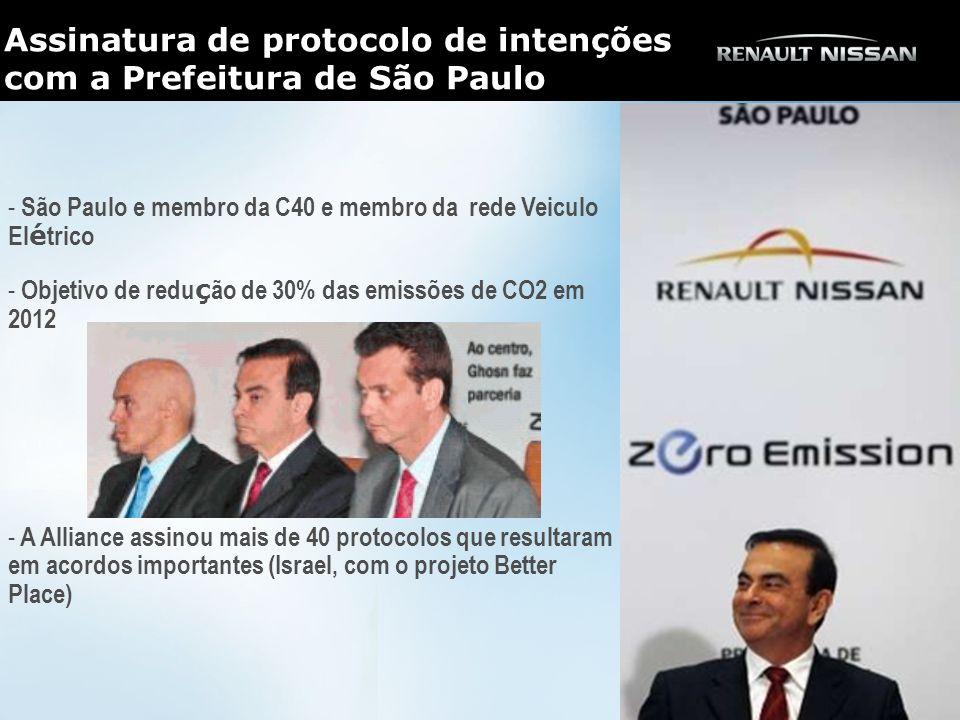 Assinatura de protocolo de intenções com a Prefeitura de São Paulo