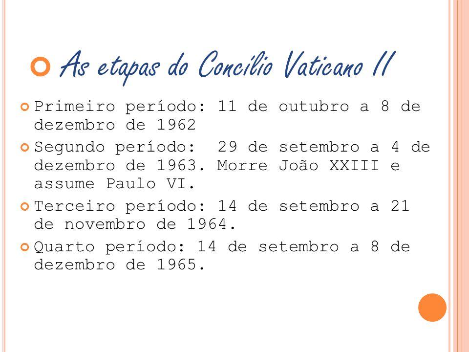 As etapas do Concílio Vaticano II