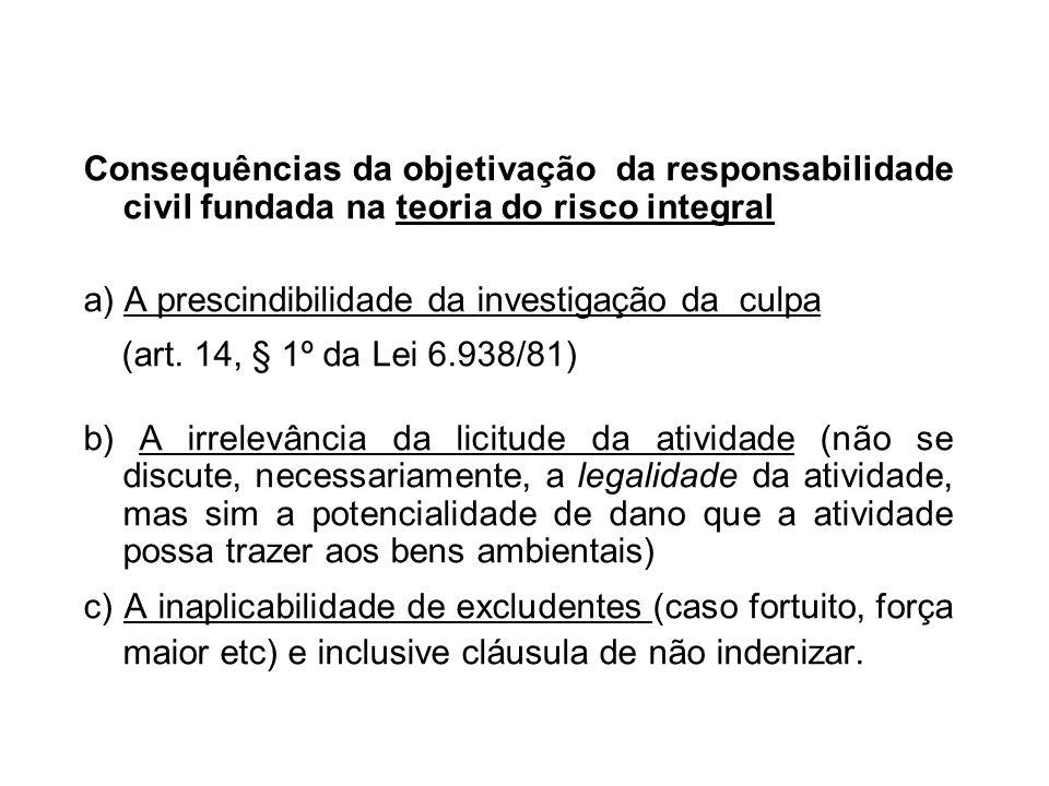 Consequências da objetivação da responsabilidade civil fundada na teoria do risco integral