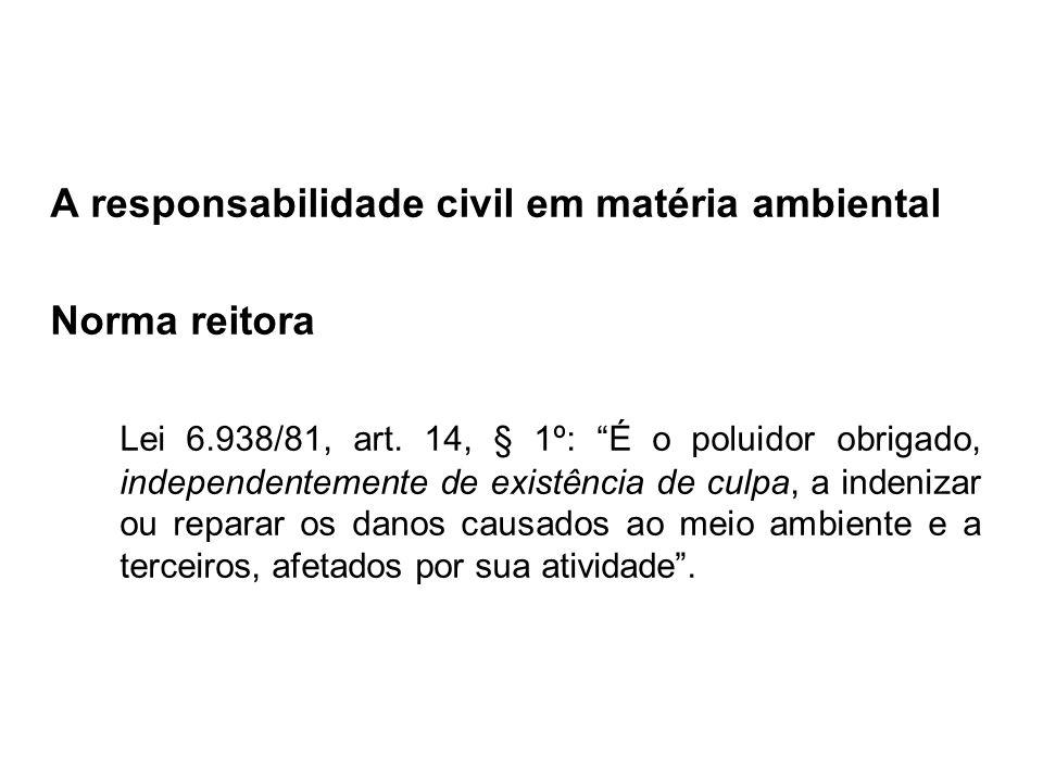 A responsabilidade civil em matéria ambiental