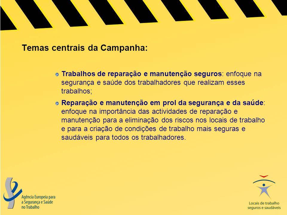 Temas centrais da Campanha: