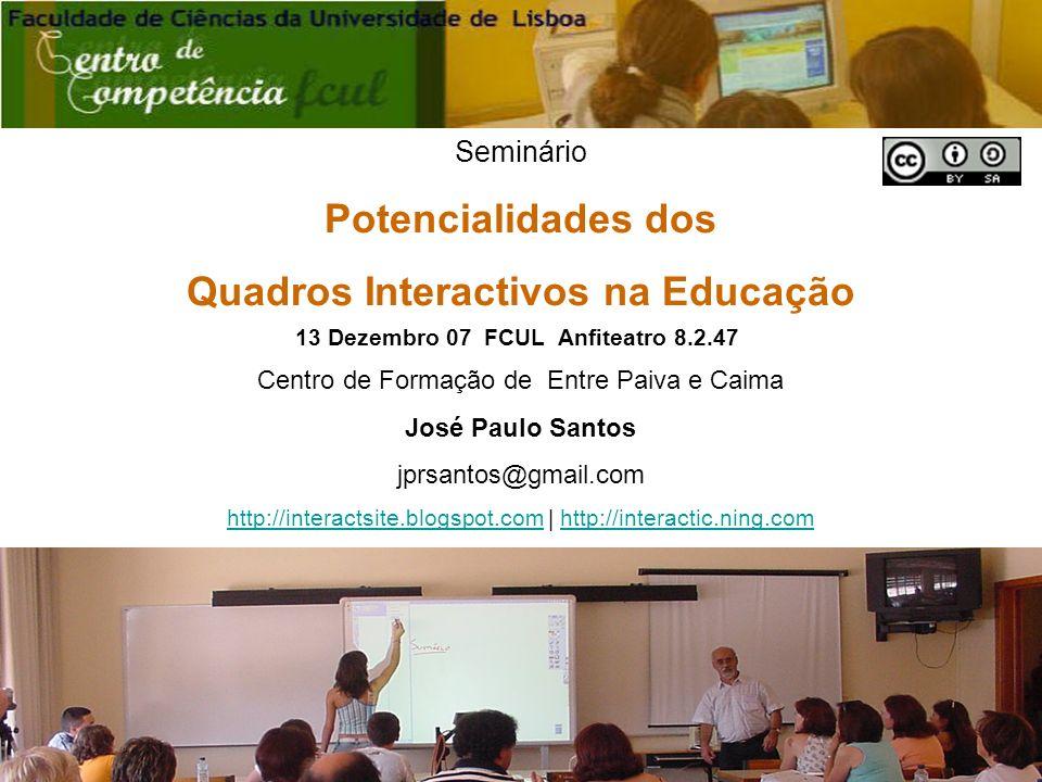 Quadros Interactivos na Educação