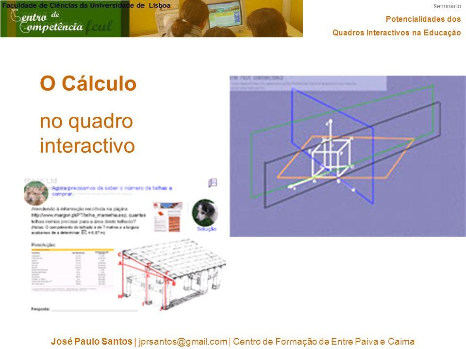 O Cálculo no quadro interactivo