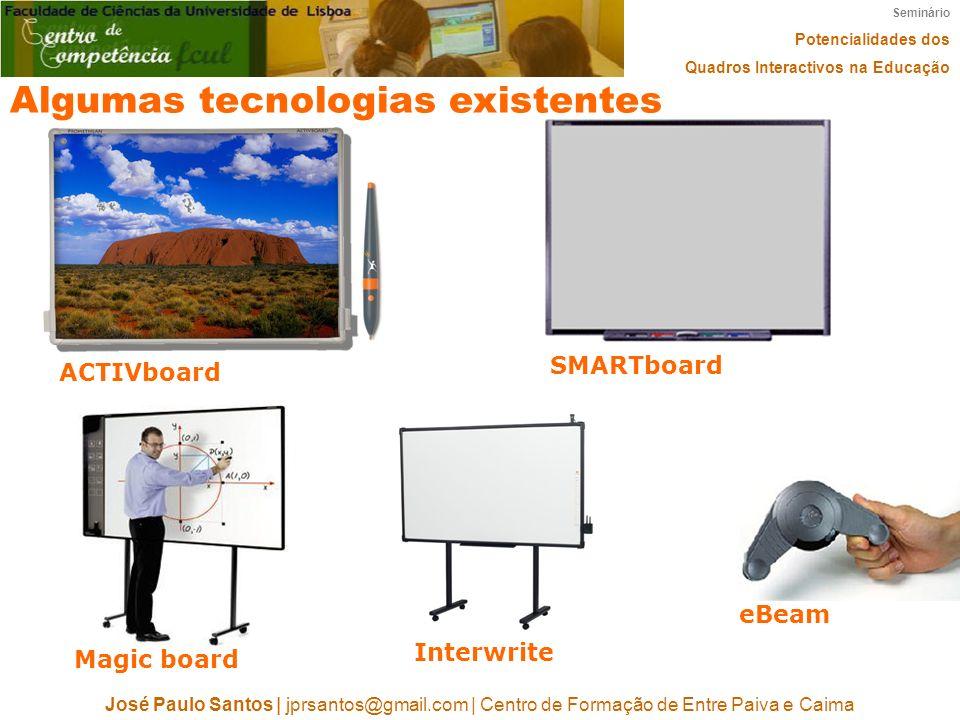 Algumas tecnologias existentes